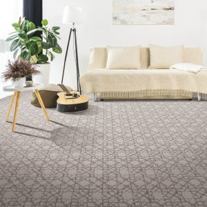 Patterned carpet in living room | Elite Flooring and Interiors Inc