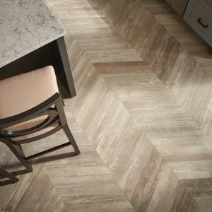 Glee chevron tile flooring | Elite Flooring and Interiors Inc